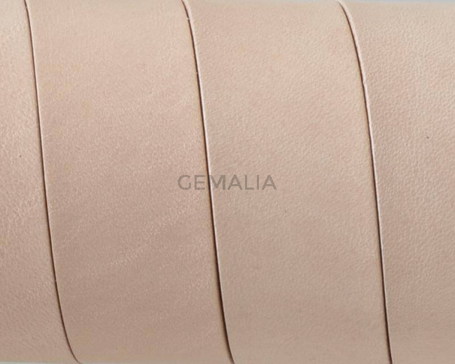 Flat Leather cord. 20x1.5mm. Natural. Best Quality.