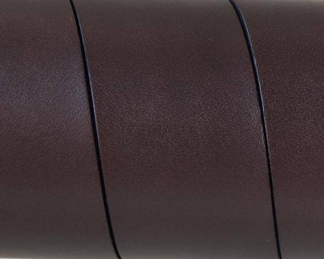 Flat Leather cord. 30x1.5mm. Dark brown. Best Quality.