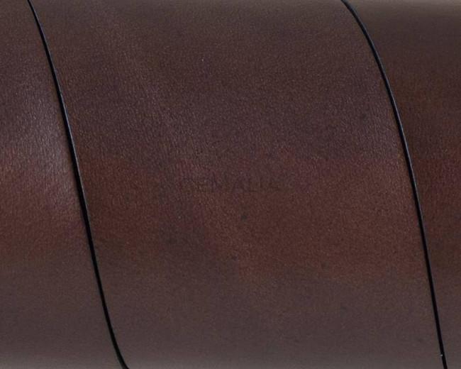 Flat Leather cord. 40x1.5mm. Dark brown. Best Quality.