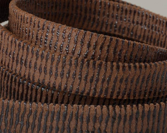 Flat Leather cord. 10x1.5mm. Dark brown. Best Quality