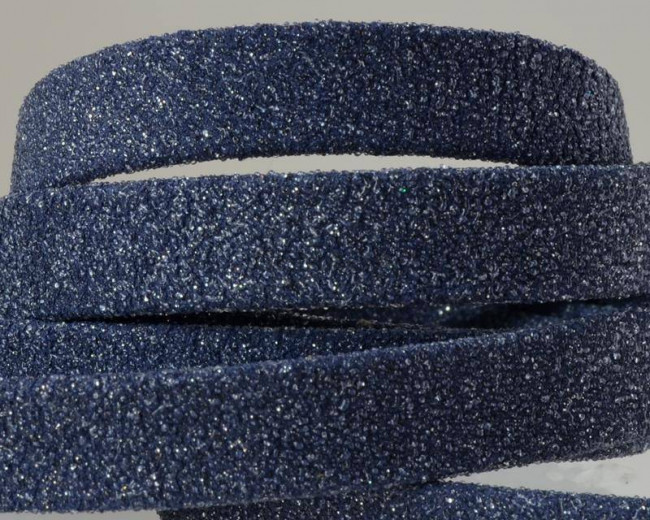 Flat Leather cord. 10x1.5mm. Navy blue. Best Quality.