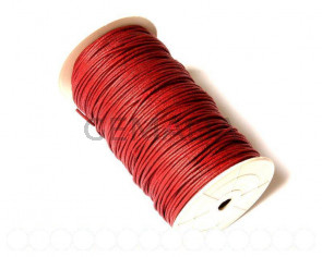 Cotton cord. 2mm. Maroon