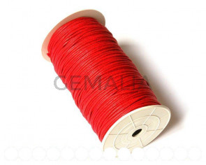 Cotton cord. 2mm. Red