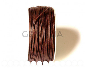 Cotton cord. 1mm. Brown