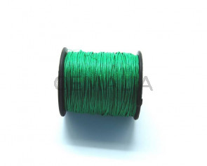 Cotton cord. 1mm. Green