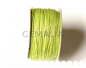Cotton cord. 1mm. Light green