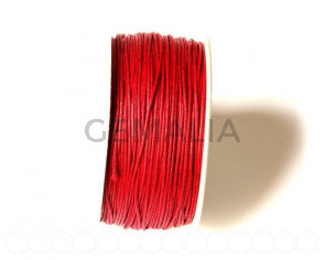 Cotton cord. 1mm. Maroon