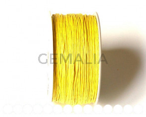 Cotton cord. 1mm. Yellow