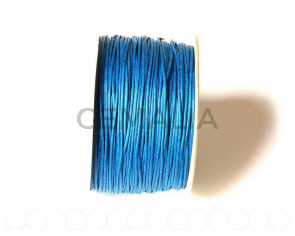 Cotton cord. 1mm. Blue