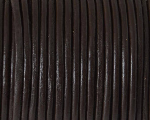 Round leather Cord. 2.5mm. Brown