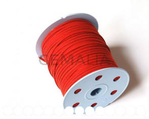 Suede Cord. 3 mm. Red