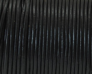 Round Leather Cord. 1.5mm. Black