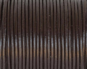 Round Leather Cord. 1.5mm. Darl brown