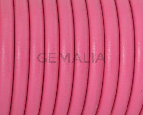 Round Leather cord. 4.5mm. Fuchsia. Best Quality.