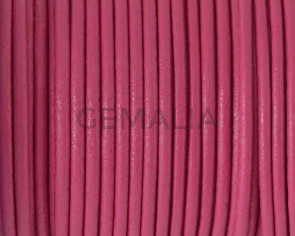 Round leather Cord. 2.5mm. fuchsia. Best Quality.