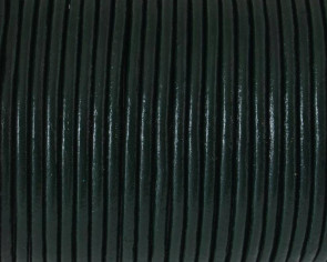 Round leather Cord. 2.5mm. Bottle green.
