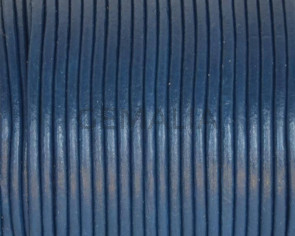 Round Leather Cord. 1.5mm. Blue.