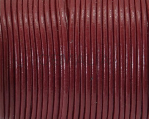 Round Leather Cord. 1.5mm. Bourdeos