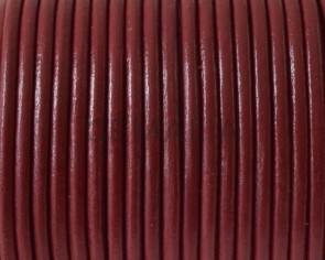 Round leather Cord. 2.5mm. Bourdeos