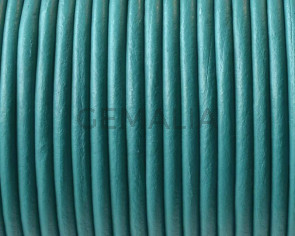 Round leather Cord. 2.5mm. Turquoise