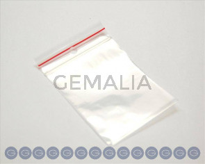 Plastic Bag. Zip-lock 60x80mm. Top Hole 5mm.