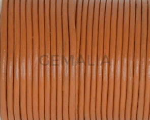 Round leather Cord. 2mm. Middle brown