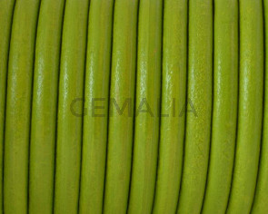Round Leather cord. 4.5mm. Pistachio.Best Quality.