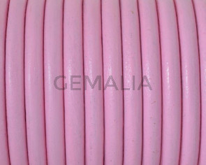Round Leather cord. 4.5mm. Pink. Best Quality.