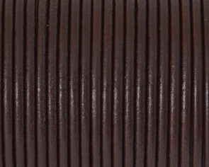 Round leather Cord. 2.5mm. Dark brown. Best Quality