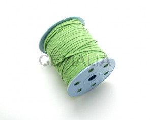 Suede Cord. 3mm. Apple green.