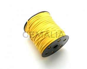 Suede Cord. 3mm. Yellow.