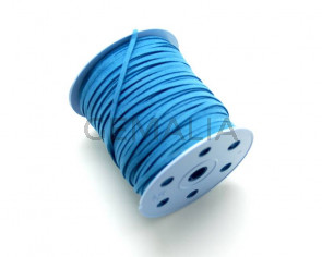 Suede Cord. 3mm. Blue.