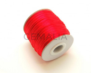 Nylon Cord. 1mm. Red. 93Metres.
