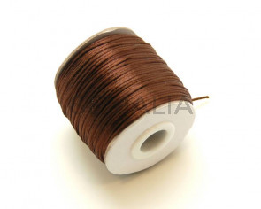 Nylon Cord. 1mm. Dark brown. 93Metres.