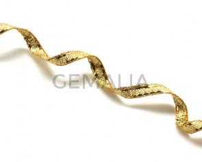 Ribbon. 3mm. Metal gold. Best Quality.