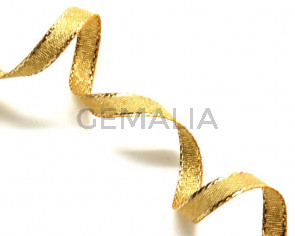 Ribbon. 7mm. Metal gold. Best Quality.
