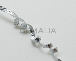 Ribbon. 3mm. Metal silver. Best Quality.