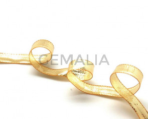 Ribbon. 6mm. Metal gold. Best Quality.