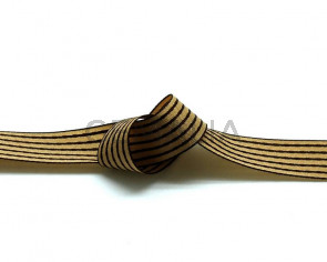 Ribbon. 15mm. Light brown-dark brown. Best Quality.