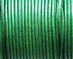Round leather Cord. 2mm. Green. Best Quality.