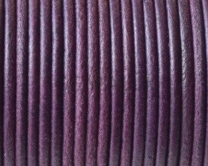 Round leather Cord. 2mm. Plum color. Best Quality.