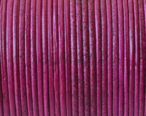 Kangaroo Leather Round Cord. 1mm. Dark fuchsia. Best Quality.
