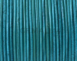 Kangaroo Leather Round Cord. 1mm. Sea green. Best Quality.