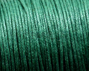 Wax Cord. Round. 1mm. Bottle Green1.