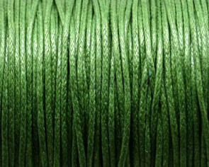 Wax Cord. 1mm. Green2.