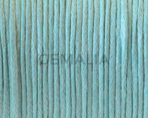Wax cord. 1mm. Sea blue.