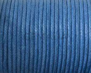 Wax cord. 2mm. Blue.