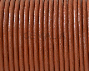 Round leather Cord. 2mm. Medium brown. Best Quality.