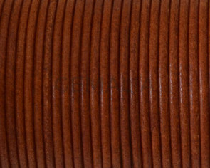 Round leather Cord. 2mm. Hazelnut. Best Quality.