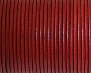 Round leather Cord. 2mm. Red. Best Quality.